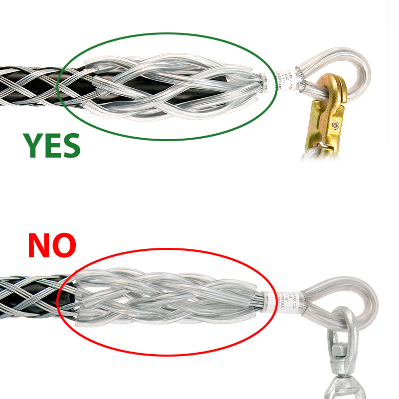 LSG Snake Grips - Pulling Wire Rope Cable