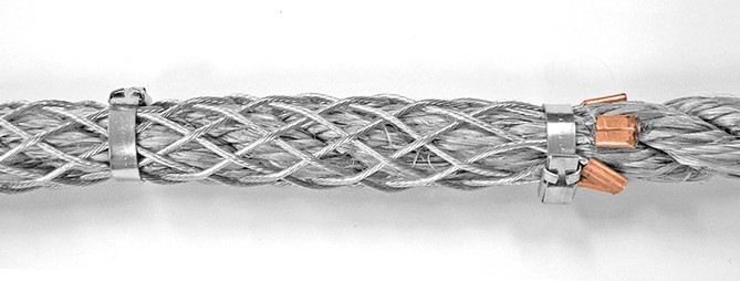 Wire Mesh Grip on Rope