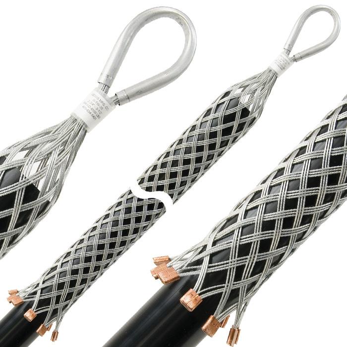 Pulling Grips Standard Model D, Triple Weave, Aluminum Tubing Eye