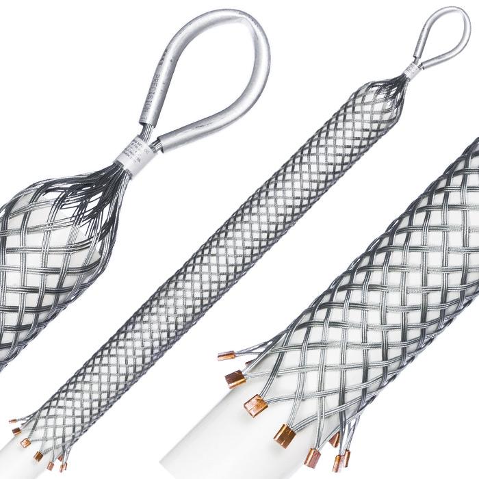 Pulling Grips Standard Model E, Triple Weave, Aluminum Tubing Eye