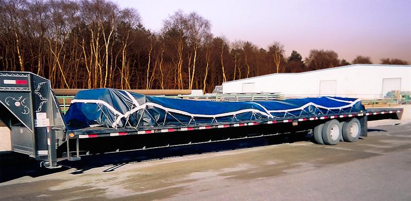 Flatbed Truck Tarps Vinyl Lumber Tarps Semi Trailer