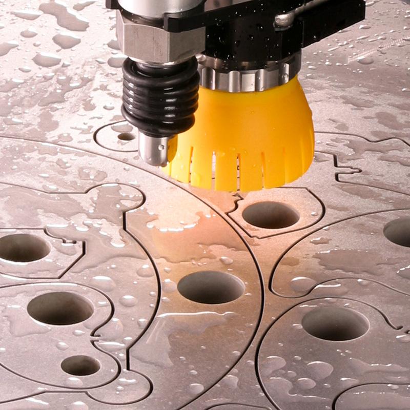Waterjet Cut Metal Signs Precision Smooth Cut No Warping